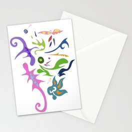 My pieces of invisible worlds Stationery Cards