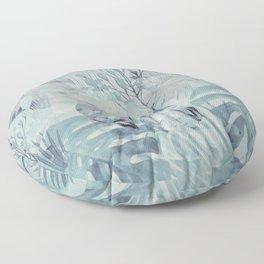 Tropical in Grey Floor Pillow