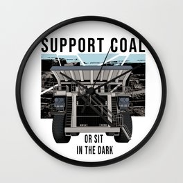 Dump Truck Support Coal Wall Clock
