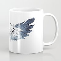 wings Mugs featuring Wings by Celairen Art