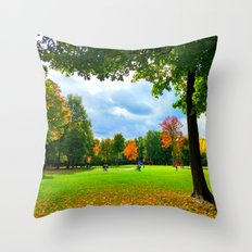 Greenfields Throw Pillow