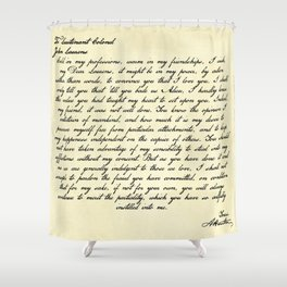 Alexander Hamilton Letter to John Laurens Shower Curtain