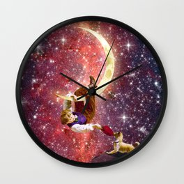 Playing on the Moon 2 Wall Clock