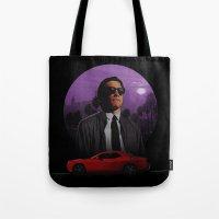 nightcrawler Tote Bags featuring Nightcrawler by Ash Reynolds