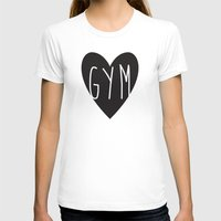 gym T-shirts featuring gym  by design make create
