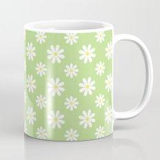 Daisies on Green Mug