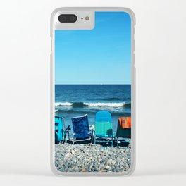 Rye Beach Clear iPhone Case
