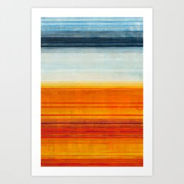 Yellowstone Orange Art Print