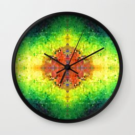 Rainbow Crystals Wall Clock