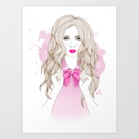 bow Art Prints featuring Bow by Crecre