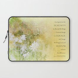 Serenity Prayer Fences and Flowers Laptop Sleeve