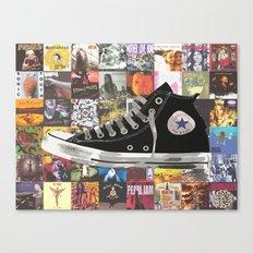90s Nostalgia - Pearl Jam / Nirvana / Radiohead / Smashing Pumpkins / Converse Canvas Print