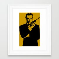 james bond Framed Art Prints featuring James Bond 007 by Walter Eckland