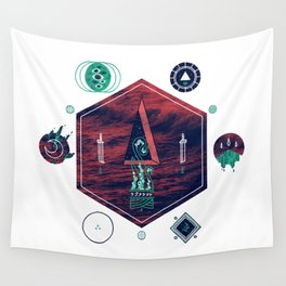 It fell from the stars, It rose from the sea Wall Tapestry