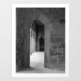 Cloister View Art Print
