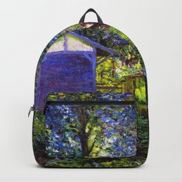 Giverny Blossoming Lilac Landscape, in Monet's Garden by Lillian Cabot Perry Backpack