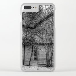Shadows and Tall Trees - Black And White Clear iPhone Case