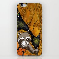 superheros iPhone & iPod Skins featuring We are Groot by Tiffany Saffle