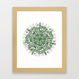 Heart opener mandala Framed Art Print