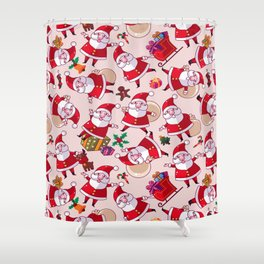 Santa Gift Pattern Shower Curtain