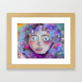 Women in Space Framed Art Print