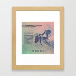 young & free Framed Art Print