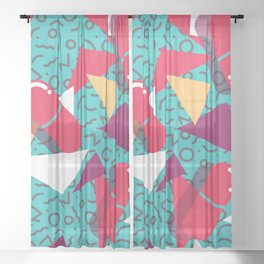 Pills Pattern 014 Sheer Curtain