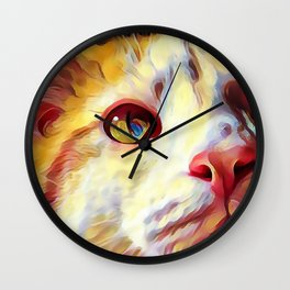 The Tabby series I from our FUNK YOUR FELINE line Wall Clock