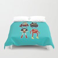 league Duvet Covers featuring Adventure League by randallmaynard