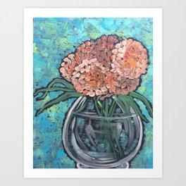 Orange Bloosoms Art Print