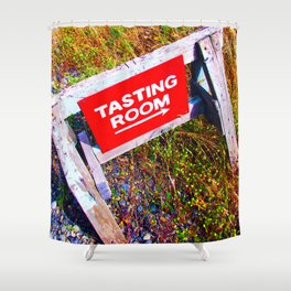 Tasting Room Sign At Ani Che Cellars Shower Curtain