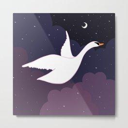 Follow the Pretty Bird Across the Sky Metal Print