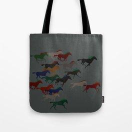 Horse Stampede Tote Bag