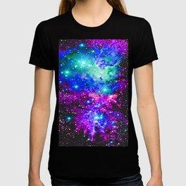 Fox Fur Nebula Galaxy Pink Purple Blue T-shirt