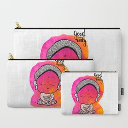 Tiny Pink Buddha Carry-All Pouch