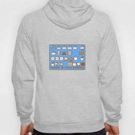 WASH AND IRON POETRY- LAUNDRY SYMBOLS Hoody