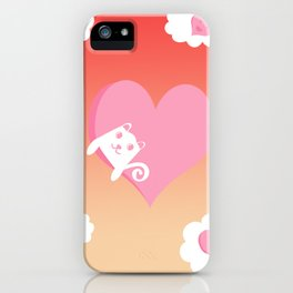 White Cat at Sunset  iPhone Case