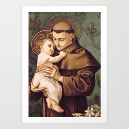 St Anthony of Padua Art Print