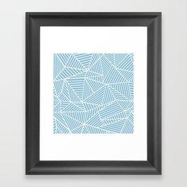 Ab Lines Sky Blue Framed Art Print