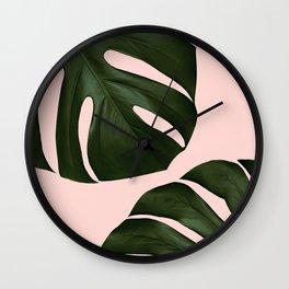 Monstera Wall Clock