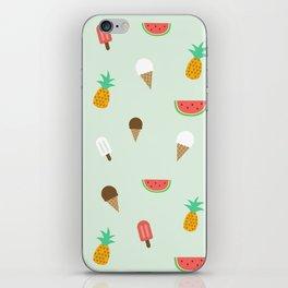 Summer Pattern cute ice creams, watermelon & pineapples iPhone Skin