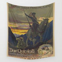 Don Quixote & Sancho Panza Theater Poster Wall Tapestry
