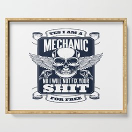 MECHANIC QUOTE Serving Tray