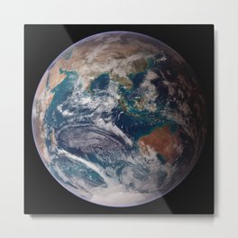 Earth : The Blue Marble Metal Print