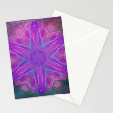 Jeweled splendor in vibrant pink Stationery Cards