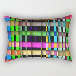 inclined coloured stripes with shadows Rectangular Pillow