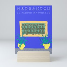 Le Jardin Majorelle, Marrakech (Marrakesh), Morocco Travel Poster Mini Art Print