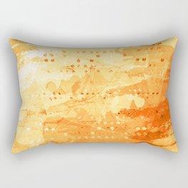 Fresh Orange -Abstract Texture Rectangular Pillow