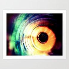 حلقه های رنگارنگ Art Print