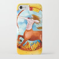 sagittarius iPhone & iPod Cases featuring Sagittarius by Sandra Nascimento